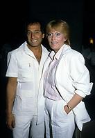 FILE PHOTO - Jerome Lemay et Claude valade, lors de la Fete des Malades, le 2 juin 1985<br /> <br /> PHOTO :   Agence quebec Presse