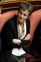 La neurobiologa Elena Cattaneo<br /> Roma 04/09/2013 Prima seduta in Aula per i Senatori a vita appena nominati<br /> First session for the new appointed Senators for life. <br /> Photo Samantha Zucchi Insidefoto