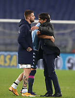 Calcio, Serie A: S.S.Lazio - Napoli, Olympic stadium, Rome, December 20, 2020. <br /> Lazio's coach Simone Inzaghi (r) celebrates with his players  after winning 2-0 the Italian Serie A football match between Lazio and Napoli at the Olympic stadium, on December 20, 2020.<br /> UPDATE IMAGES PRESS/Isabella Bonotto