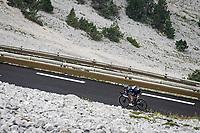 Soren Kragh Andersen (DEN/DSM) desceding from the Mont Ventoux<br /> <br /> Stage 11 from Sorgues to Malaucène (199km) running twice over the infamous Mont Ventoux<br /> 108th Tour de France 2021 (2.UWT)<br /> <br /> ©kramon