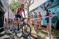 Marcel Sieberg (DEU/Lotto-Soudal) warming down post-race<br /> <br /> Stage 2: Mouilleron-Saint-Germain > La Roche-sur-Yon (183km)<br /> <br /> Le Grand Départ 2018<br /> 105th Tour de France 2018<br /> ©kramon