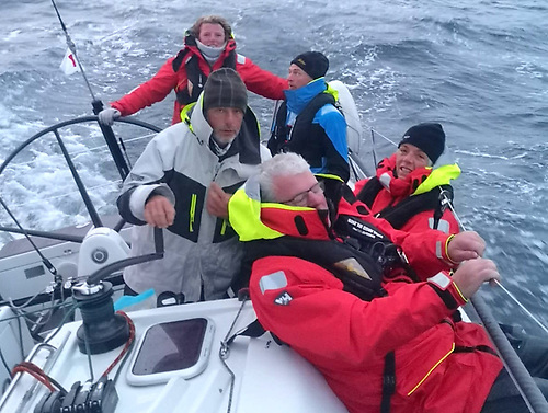 Taken at 0530 this morning, the Nieulargo crew close in on the County Kerry finish line