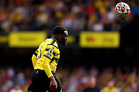11th September 2021; Vicarge Road, Watford, Herts,  England;  Premier League football, Watford versus Wolverhampton Wanderers; Danny Rose of Watford with a headed clearance