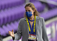ORLANDO CITY, FL - FEBRUARY 18: Cindy Parlow exits the field during a game between Canada and USWNT at Exploria stadium on February 18, 2021 in Orlando City, Florida.