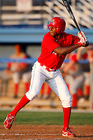 August 6, 2009:  Michael Swinson of the Batavia Muckdogs during a game at Dwyer Stadium in Batavia, NY.  The Muckdogs are the Short-Season Class-A affiliate of the St. Louis Cardinals.  Photo By Mike Janes/Four Seam Images