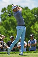 5th June 2021; Dublin, Ohio, USA; Bo Hoag (USA) watches his tee shot on 5 during the Memorial Tournament Rd3 at Muirfield Village Golf Club on June 5, 2021 in Dublin, Ohio.