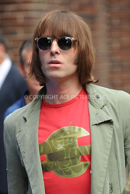 WWW.ACEPIXS.COM . . . . . .June 22, 2011...New York City... Liam Gallagher tapes the Late Show with David Letterman on May 11, 2011 in New York City....Please byline: KRISTIN CALLAHAN - ACEPIXS.COM.. . . . . . ..Ace Pictures, Inc: ..tel: (212) 243 8787 or (646) 769 0430..e-mail: info@acepixs.com..web: http://www.acepixs.com .