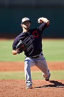 Cleveland Indians pitcher Ryan Merritt (54) during an Instructional League game against the Kansas City Royals on October 11, 2016 at the Cleveland Indians Player Development Complex in Goodyear, Arizona.  (Mike Janes/Four Seam Images)