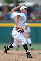 Relief pitcher Tayler Stiles (25) of the Maryland Terrapins in an NCAA Division I Baseball Regional Tournament game against the Old Dominion Monarchs on Friday, May 30, 2014, at Carolina Stadium in Columbia, South Carolina. Maryland won, 4-3. (Tom Priddy/Four Seam Images)