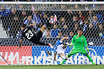 Danilo Luiz Da Silva of Real Madrid saves a shot during their La Liga match between Deportivo Leganes and Real Madrid at the Estadio Municipal Butarque on 05 April 2017 in Madrid, Spain. Photo by Diego Gonzalez Souto / Power Sport Images