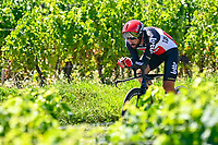 17th July 2021, St Emilian, Bordeaux, France;  DE GENDT Thomas (BEL) of LOTTO SOUDAL during stage 20 of the 108th edition of the 2021 Tour de France cycling race, an individual time trial stage of 30,8 kms between Libourne and Saint-Emilion.