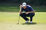 Justin Rose of England lines up a putt during the day four of UBS Hong Kong Open 2017 at the Hong Kong Golf Club on 26 November 2017, in Hong Kong, Hong Kong. Photo by Marcio Rodrigo Machado / Power Sport Images