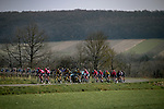 EF Education-Nippo with race leader Yellow Jersey Stefan Bissegger (SUI) on the front of the peloton during Stage 4 of Paris-Nice 2021, running 187.5km from Chalon-sur-Saone to Chiroubles, France. 10th March 2021.<br /> Picture: ASO/Fabien Boukla | Cyclefile<br /> <br /> All photos usage must carry mandatory copyright credit (© Cyclefile | ASO/Fabien Boukla)