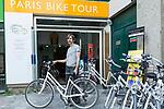 Europa, Frankreich, France, Paris, Beaubourg und Les Halles Paris Bike Tour, Stephan, Rue Brantome beim Centre Georges Pompedou, 10.09.2014