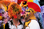 'GAYFEST MANCHESTER, UK', TWO GAY MEN DRESSED AS A ROMAN CENTURION AND 'HIS FRIEND' AT THE GAY PARADE IN MANCHESTER, 1999
