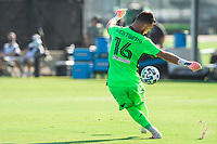 LAKE BUENA VISTA, FL - JULY 13: Quentin Westberg #16 of Toronto FC kicks the ball during a game between D.C. United and Toronto FC at Wide World of Sports on July 13, 2020 in Lake Buena Vista, Florida.