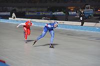 SCHAATSEN: AMSTERDAM: Olympisch Stadion, 09-03-2018, WK Allround, Coolste Baan van Nederland, 3000m Ladies, Ida Njåtun (NOR), Natalia Czerwonka (POL), ©foto Martin de Jong