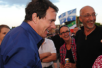 Saint-Jerome, CANADA - June 23,2105.<br /> <br /> Parti Quebecois new leader Pierre-Karl Peladeau<br /> attend the Saint-Jean-Baptiste  Quebec National Holliday celebration in his riding of Saint-Jerome, North of Montreal, June 23, 2015