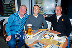 Enjoying a pint outside the Grand Hotel on Saturday, l to r: Michael O'Brien, Tom Foley and Pat Sheehan from Tarbert.