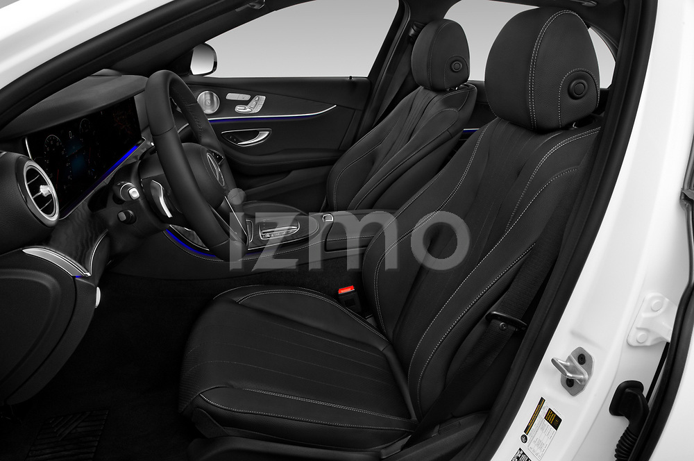 Front seat view of a 2021 Mercedes Benz E Class AMG Line 2 Door Coupe