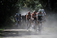 Martin Mortensen (DEN/One Pro Cycling) leading the peloton through the dust<br /> <br /> 91th Schaal Sels 2016