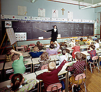 Annunciation Church. Young children in Sunday school classroom