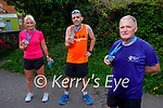Trio who completed a marathon fundraiser for Downs Syndrome Kerry on Sunday. Front right: Jack Moriarty. Back l to r: Michelle Greaney and Liam Horan