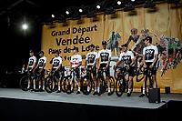 Fair to say Team Sky didn't get a warm welcome during the team presentation. <br /> <br /> Le Grand Départ 2018<br /> 105th Tour de France 2018<br /> ©Kramon