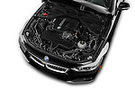 Car Stock 2016 BMW 4 Series 428I 2 Door Convertible Engine  high angle detail view