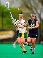 1 May 2010: University of Vermont Catamount attacker Kaitlyn Johnson, a Senior from Meriden, NH, in action against the University of New Hampshire Wildcats at Moulton Winder Field in Burlington, Vermont. The Lady Catamounts fell to the visiting Wildcats 18-10 in the last game of the 2010 regular season. Mandatory Photo Credit: Ed Wolfstein Photo