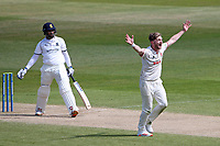 Sam Cook of Essex appeals for the wicket of Hanuma Vihari during Warwickshire CCC vs Essex CCC, LV Insurance County Championship Group 1 Cricket at Edgbaston Stadium on 25th April 2021