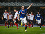 Nicky Law celebrates after scoring for Rangers