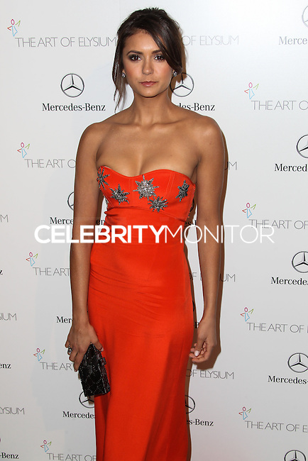 LOS ANGELES, CA - JANUARY 11: Nina Dobrev at The Art of Elysium's 7th Annual Heaven Gala held at Skirball Cultural Center on January 11, 2014 in Los Angeles, California. (Photo by Xavier Collin/Celebrity Monitor)