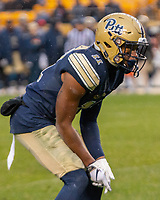 Pitt defensive back Dane Jackson. The Pitt Panthers football team defeated the Duke Blue Devils 54-45 on November 10, 2018 at Heinz Field, Pittsburgh, Pennsylvania.