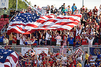 USA fans celebrate a goal during a World Cup Qualifying match at Rio Tinto Stadium, in Sandy, Utah, Friday, September 5, 2009.  .The USA won 2-1..