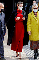 MADRID, SPAIN- February 16: **NO SPAIN** Queen Letizia of Spain, Carmen Calvo Visits to the exhibition 'Concepcion Arenal. The Humanist Passion 1820-1893' at National Library on February 16, 2021 in Mostoles, Spain.. <br /> CAP/MPI/RJO<br /> ©RJO/MPI/Capital Pictures