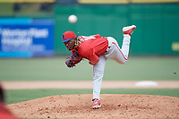 Philadelphia Phillies pitcher Jaylen Smith (12) during an Instructional League game against the Toronto Blue Jays on September 23, 2019 at Spectrum Field in Clearwater, Florida.  (Mike Janes/Four Seam Images)