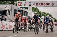 Adam Blythe (GBR/Aqua Blue Sport) takes the victory in a bunch sprint. <br /> <br /> 2nd Elfstedenronde 2018<br /> 1 day race: Brugge - Brugge 196.3km