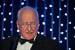 © Joel Goodman - 07973 332324 . 05/03/2015 .  Midland Hotel , Manchester , UK . MICHAEL REDFERN QC winner of Lifetime Achievement Award . The Manchester Legal Awards 2015 . Photo credit : Joel Goodman