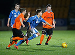 St Johnstone v Dundee Utd..10.11.15  SPFL Development League.  McDiarmid Park, Perth.<br /> Aaron Comrie gets away from Charlie Telfer<br /> Picture by Graeme Hart.<br /> Copyright Perthshire Picture Agency<br /> Tel: 01738 623350  Mobile: 07990 594431