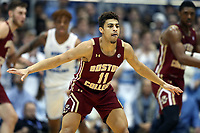 CHAPEL HILL, NC - FEBRUARY 1: Derryck Thornton #11 of Boston College during a game between Boston College and North Carolina at Dean E. Smith Center on February 1, 2020 in Chapel Hill, North Carolina.