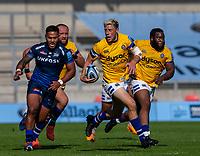 13th September 2020; AJ Bell Stadium, Salford, Lancashire, England; English Premiership Rugby, Sale Sharks versus Bath; Rhys Priestland of Bath Rugby runs with the ball