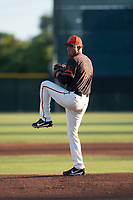 AZL Giants Black starting pitcher Israel Cruz (34) delivers a pitch during an Arizona League game against the AZL Angels at the San Francisco Giants Training Complex on July 1, 2018 in Scottsdale, Arizona. The AZL Giants Black defeated the AZL Angels by a score of 4-2. (Zachary Lucy/Four Seam Images)