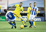 Kilmarnock v St Johnstone…07.03.18…  Rugby Park    SPFL<br />Gary Dicker tackles Denny Johnstone<br />Picture by Graeme Hart. <br />Copyright Perthshire Picture Agency<br />Tel: 01738 623350  Mobile: 07990 594431