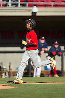 DJ Artis (10) of Southeast Guilford High School in Greensboro, North Carolina playing for the Boston Red Sox scout team at the South Atlantic Border Battle at Doak Field on November 2, 2014.  (Brian Westerholt/Four Seam Images)
