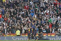 FC Barcelona's players celebrate goal during La Liga match.March 02,2013. (ALTERPHOTOS/Acero) /NortePhoto