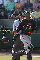 Rome Braves catcher Christian Bethancourt #19 during a game vs. the Charleston Riverdogs at Joseph P. Riley Jr. Ballpark in Charleston, South Carolina on June 6, 2010.   Charleston defeated Rome by the score of 4-2.  Photo By Robert Gurganus/Four Seam Images