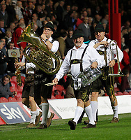 Brentford FC have a band entertaining the fans at half time during the Sky Bet Championship match between Brentford and Derby County at Griffin Park, London, England on 26 September 2017. Photo by Carlton Myrie / PRiME Media Images.
