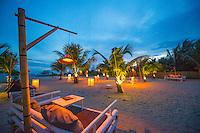 Thailand, Koh Phangan Island. Outdoor lanterns at Fisherman's Bar and Restaurant.