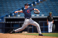 Pitcher Josh Pike (16) Northern Guilford High School in Summerfield, North Carolina playing for the Cleveland Indians scout team during the East Coast Pro Showcase on August 3, 2016 at George M. Steinbrenner Field in Tampa, Florida.  (Mike Janes/Four Seam Images)